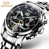 Kinyued Brand Automatic Watch Men Stainless Steel Self Wind Moon Calendar Watches Mechanical Mannen Business Relogio
