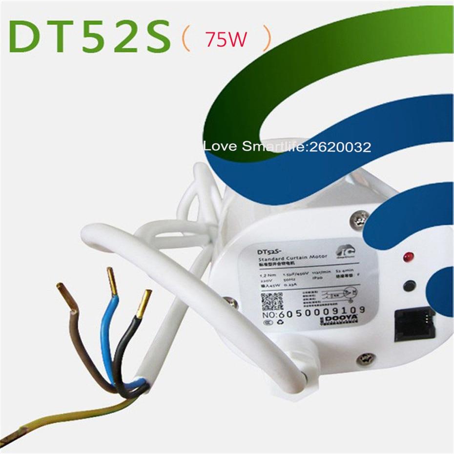 Купить с кэшбэком Dooya DT52S 75W+3M or Less Track+EU Type WIFI Curtain Switch,Tuya App Curtain Track Automatic System,Support Alexa/Google Home