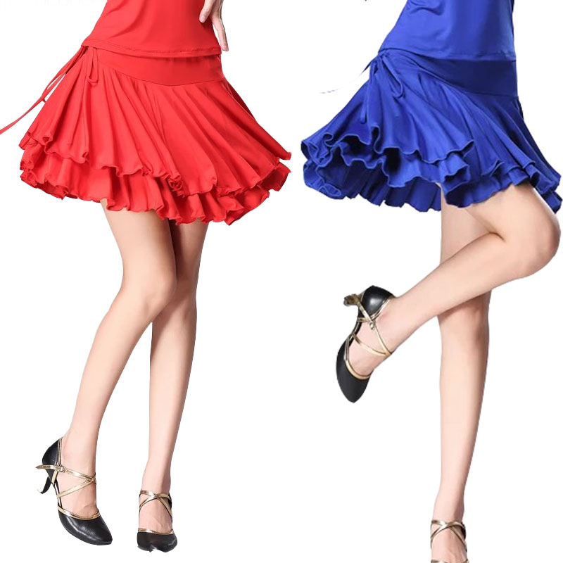 Free Size 4 Colors Available Latin Skirts Professional Adult Women Latin Practice Skirts Classic Latin Square Dance Wear