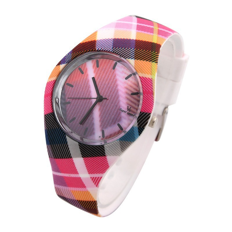 V6 Plaid Stripes Casual Watches Luxury Watches Quartz Watch Relogio Relojes Clock Hours font b Dress