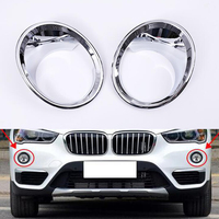 New 1Pair Car Front Fog Light Lamp Trim Cover For 2016 BMW X1 Car Covers Car