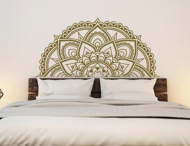 Mandala Decal Master Bedroom Wall Decor  Half Mandala Car Decal Window Decal  Sticker Boho Hippie