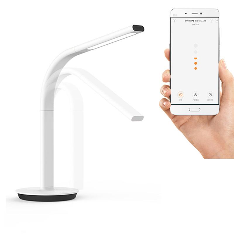 Prix pour D'origine Xiaomi Mijia Smart DeskLamp LED Table Lumineuse Lampe 2ème DeskLamp Desklight 4000 K 10 W Double lumière IOS Android APP Contrôle