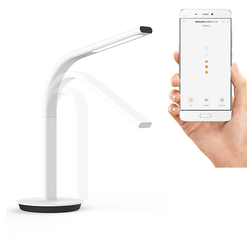 ФОТО Original Xiaomi Mijia Smart DeskLamp LED Light Table Lamp 2nd DeskLamp Desklight 4000K 10W Dual light IOS Android APP Control