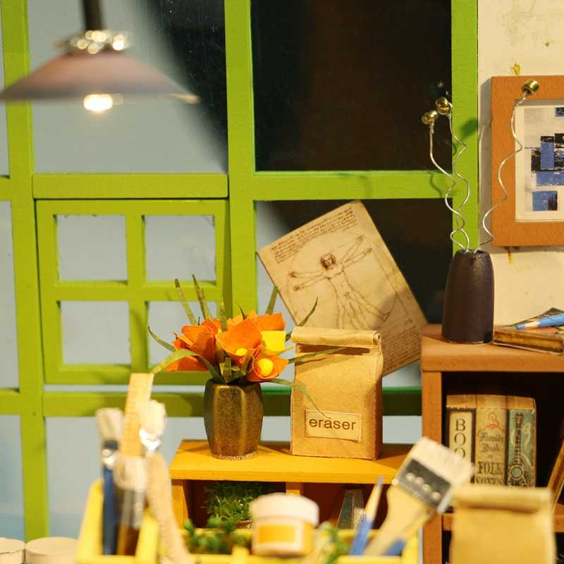 Robud DIY Миниатюрный Кукольный дом с мебель свет Модель Строительство наборы кукольный домик игрушечные лошадки для детей Atelier дропшиппинг