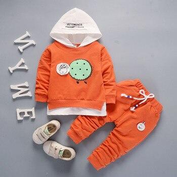 9dbc10ac5 Conjuntos de ropa para niños otoño bebé traje deportivo para niño 2 piezas  ropa para niños conjunto sudaderas con capucha + Pantalones 3 años de  dibujos ...