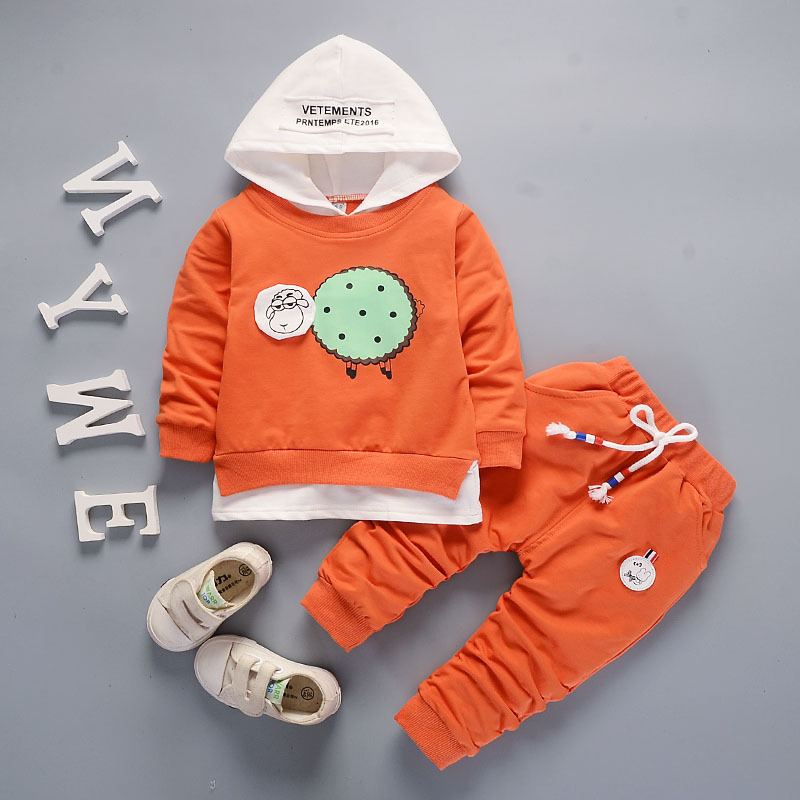 children clothing autumn baby sport suit for boy girl 2pcs/set kids clothes set hoodies + pants 3 years cartoon cotton outfits 2017 new cartoon pants brand baby cotton embroider pants baby trousers kid wear baby fashion models spring and autumn 0 4 years
