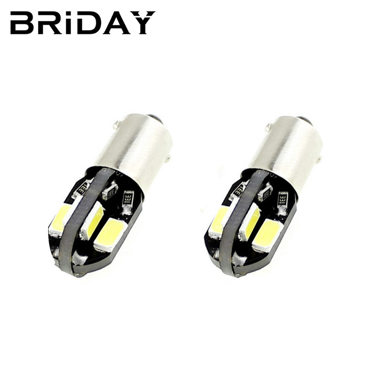 BRIDAY 1PC BA9S clearance lights car door lights led Bulbs license plate lamp 8smd Car-Styling signal lights for cars DC 12V 1pc t10 w5w clearance lights car door lights reading lamp led bulbs license plate lamp car styling signal lights for cars dc 12v