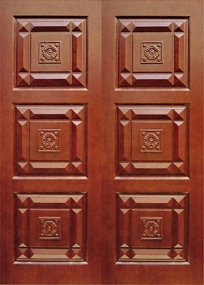 Chinese wood doors wooden double door designs in doors for Double door designs for home