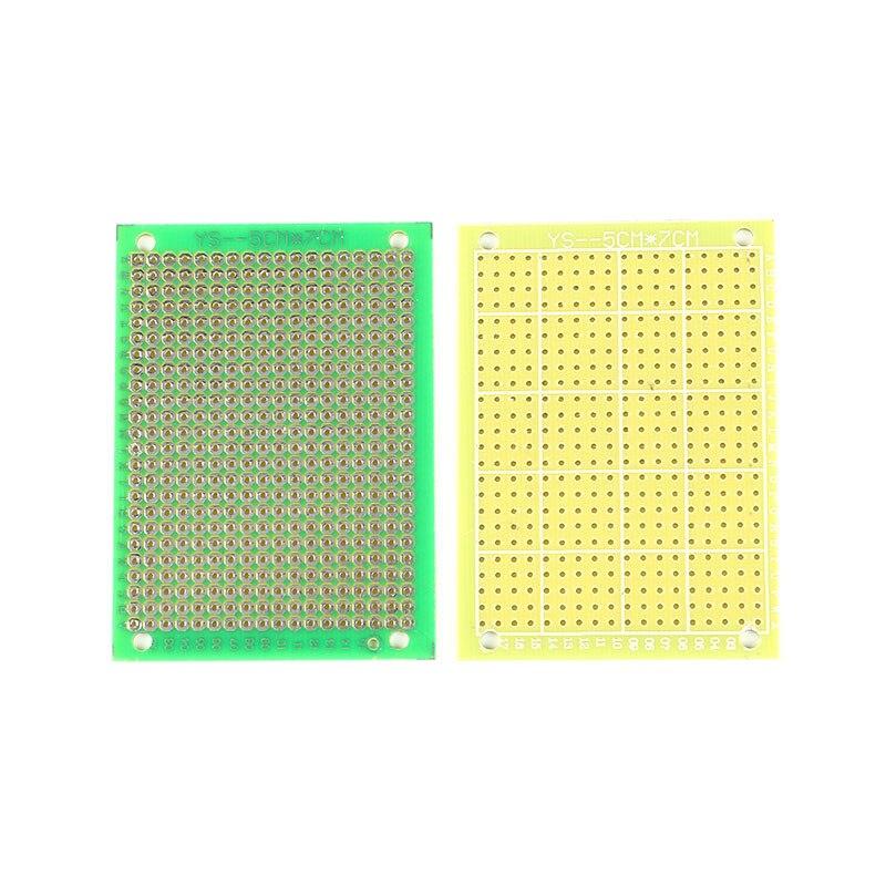 10 pcs DIY Kit Parts 7 5CM Single Side PCB Board Glass Fiber Green PCB Circuit