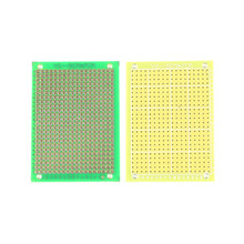 10 шт. DIY Kit Запчасти 7*5 см одной стороне печатной платы Стекло Волокно зеленый печатная плата 5×7 см