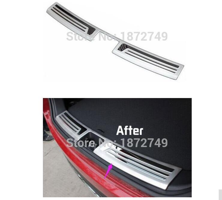 For Hyundai Tucson ix35 2010 2011 2012 with Stainless steel 1pce Rear Bumper Protector Sill Plate Rear Door Plate