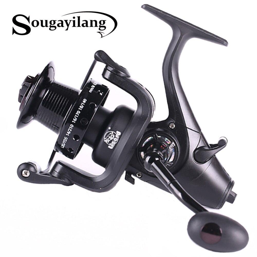 Sougayilang 5000 6000 spinning Reel 5.1: 1 relación mano izquierda derecha intercambiables Pesca carrete 12 + 1bb alimentador carpa carrete