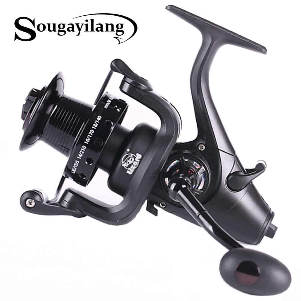 Sougayilang 5000 6000 spinning reel 5.1: 1 gear ratio à droite gauche interchangeables moulinet de pêche 12 + bb feeder carpe bobine