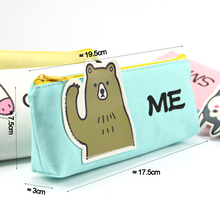 Kawaii Cartoon Canvas Pencil Bag Stationery