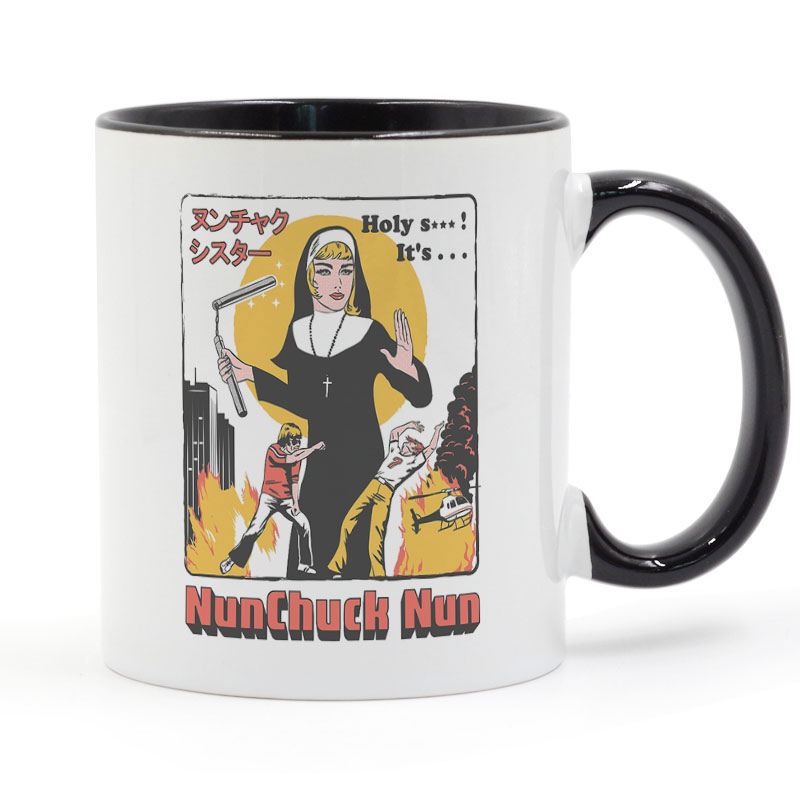 NUNCHUCK NUN Coffee Mug Creative Gifts 11oz GA1566