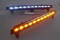 Free Shipping For Q7 05 10 LED DRL Daytime Running Light Lamp With Yellow Flicker