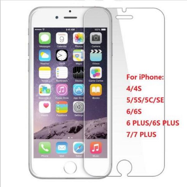 imágenes para 1000 unids/lote 0.3mm 2.5d arco trasero de cristal templado para el iphone 5s 6 6 plus 7 7 plus protector de pantalla de cristal templado película protectora