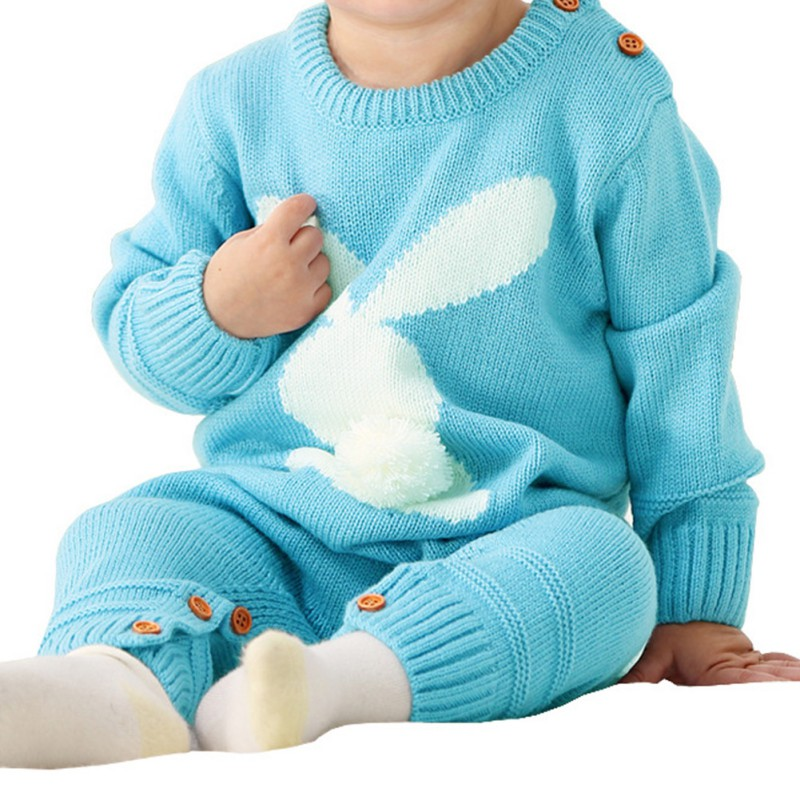 HTB1Pmc1Xh2rK1RkSnhJq6ykdpXaj Baby Rompers Set Newborn Rabbit Baby Jumpsuit Overall Long Sleevele Baby Boys Clothes Autumn Knitted Girls Baby Casual Clothes