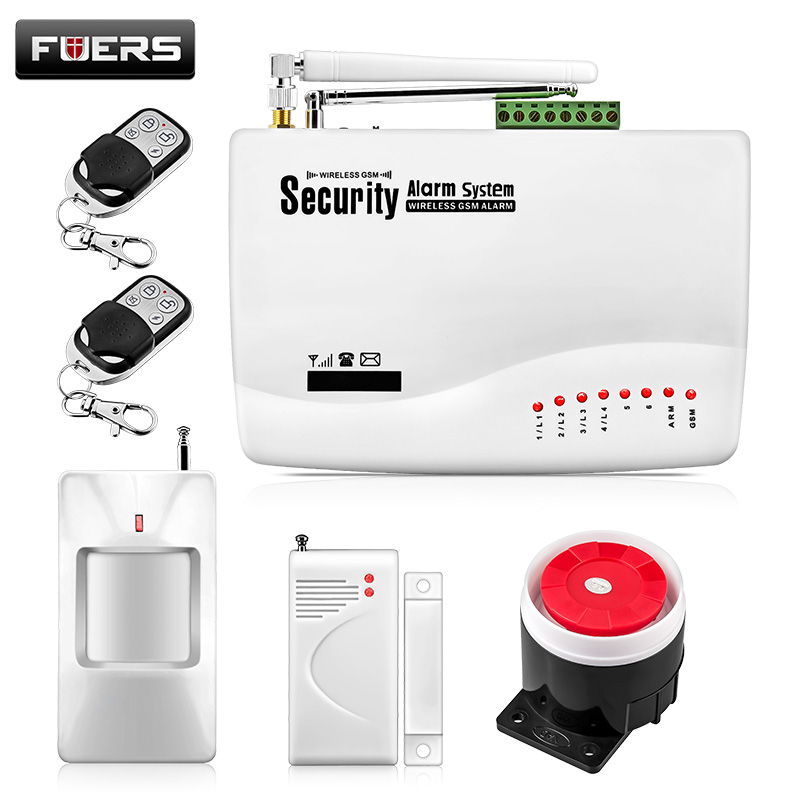 Wireless GSM Alarm System For Home Security System With PIR Door Sensor 850 900 1800 1900MHz