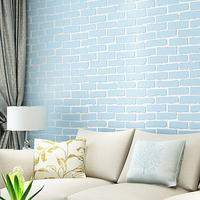 Non Woven Fabric 10M Brick Pattern Embossed Wall Papers Creative Wall Art Wallpaper Mural Art Kitchen Wall Stickers 3D