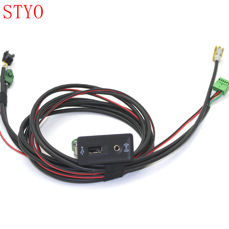 STYO <font><b>VW</b></font> Carplay Cap Socket MDI <font><b>USB</b></font> AMI + Wire/Cable/Harness for <font><b>VW</b></font> <font><b>GOLF</b></font> <font><b>7</b></font> MK7 5G0 035 222 E image
