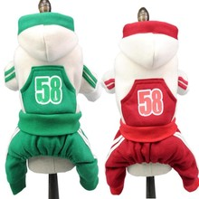 Sport 58 Small Pet clothes autumn winter dog Jumpsuit Dog hoodies teddy puppy clothes for small pet XS S M L XL XXL цена