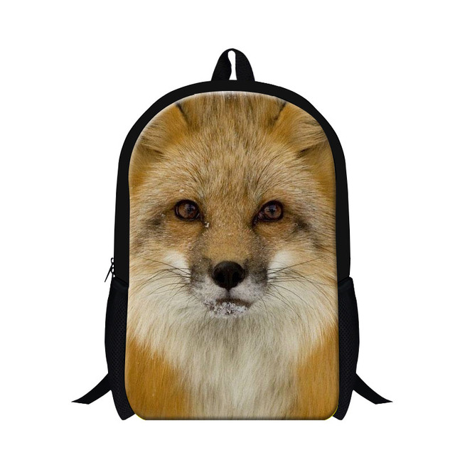 Dispalang Design Children School Backpacks Fox 3d Animal Printing Bags For Boys Men S Shoulder Travel