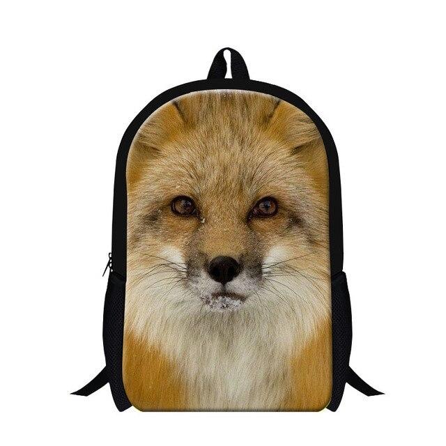selección premium d299f 46400 € 17.9 34% de DESCUENTO|Dispalang diseño niños escuela mochilas Fox 3D  impresión animal Mochilas y bolsas para el colegio para Niños hombres  hombro ...