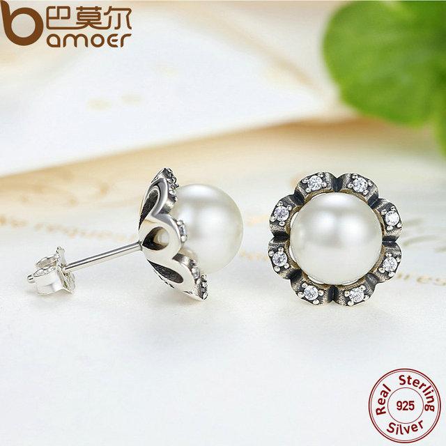 Sterling Silver Everlasting Grace Stud Earrings