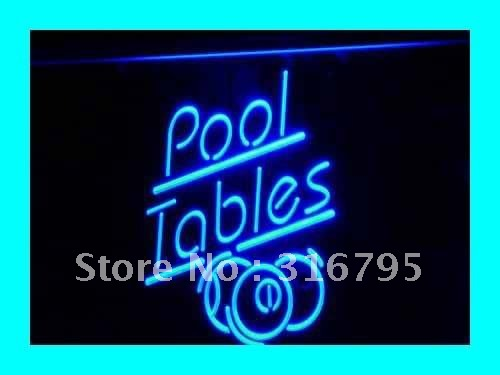 i318 Pool Tables LED Neon Snooker Billiards Light Sign On/Off Switch 20+ Colors 5 Sizes