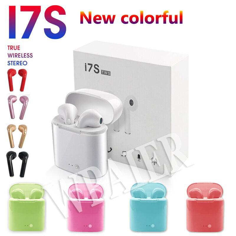 Wireless Bluetooth Earphones I7mini Portable Earbuds With Charging Box mini bluetooth headsets Universal type I7S TWS Headphones