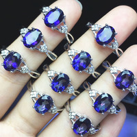Natural Topaz Gems Rings, Topaze Coated Tanzanite Blue Color, Oval Cut 6X8MM, 925 Sterling Silver Rings,Increase self expression