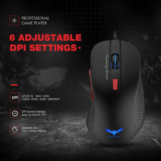 HAVIT Wired Gaming Mouse USB Optical Mouse 2