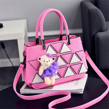Free shipping 2016 sweet gril bags fashion PU  already set handbag women messenger bags new shoulder bags