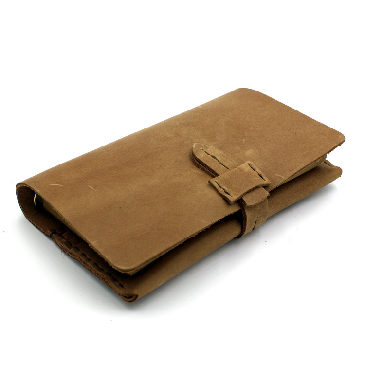 Blank Diaries Journals notebook note book vintage simple genuine leather with wallet combine diary with wallet orient undr005w