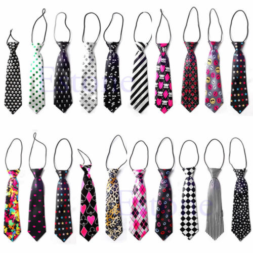 2017 Girls Boys Elastic Tie 30 Styles Cute Chirldren Wedding Party Necktie Fashion Suit Baby Printed