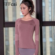 2019 New Blue Black Rose Sports Tops Gym Women Fitness T Shirt Woman Long Sleeve Yoga Top Mesh Womens Gym Tops Sport Wear Women