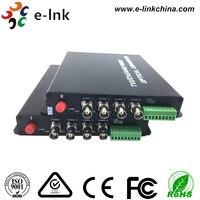 4ch 720 P HDTVI Волокно преобразователь с RS485 данных