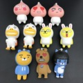 2017 New 50pcs/lot South Korea Cute Cartoon Puppets Pendant Ryan Muzi Apeach Neo Frodo Action Figures Toy Dolls Kawaii Keychain