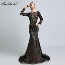 In Stock New Arrivals Luxury Formal Celebrity Dresses Mermaid Zipper Floor Length Crystal Beading Robe De Soiree LSX366