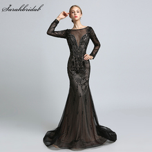 In Stock 2018 New Arrivals Luxury Formal Celebrity Dresses Mermaid Zipper Floor Length Crystal Beading Robe De Soiree LSX366