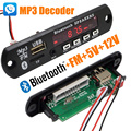 New 5V / 7-12V Car Bluetooth Wireless MP3 Decoder Board Audio Module AUX USB TF Radio Free Shipping with Track Number 12003151