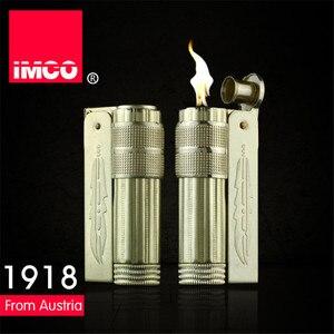 Image 3 - Классическая Подлинная Электронная зажигалка IMCO, обычная зажигалка, оригинальная медная бензиновая сигарета, газовая зажигалка для сигар из чистой меди