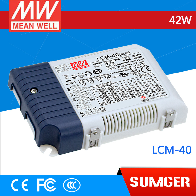 ФОТО [Sumger1] MEAN WELL original LCM-40 100V 350mA meanwell LCM-40 100V 42W Multiple-Stage Output Current LED Power Supply