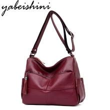Bolsa Feminina Top-handle Bags Women Leather Handbags Women Famous Brands Female Casual Shoulder Bag Tote For Girls SAC A Main цена 2017