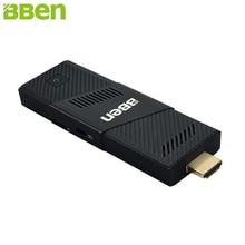 Bben Мини-ПК Окна 10 Ubuntu Intel Cherry Trail X5-Z8350 4 ядра 2 ГБ 4 ГБ Оперативная память ПК мини-компьютер stick Wi-Fi BT4.0 USB3.0 USB2.0