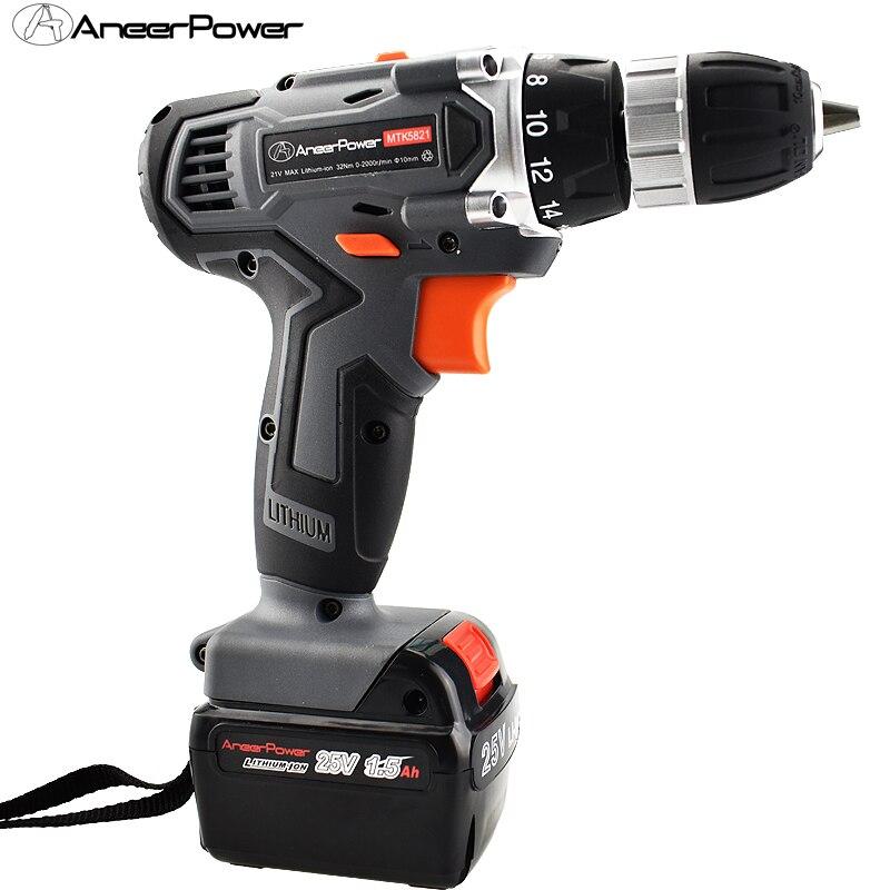 25 V perceuse électrique outils électriques tournevis sans fil Mini batterie perceuse tournevis outil électrique rotatif outil perceuse à main