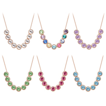 New Women's Crystal Necklace Pendant Collar Chain Clavicle Fashion Cute Necklace for Day-use 5TO8 6T1V 7GBZ 87KN