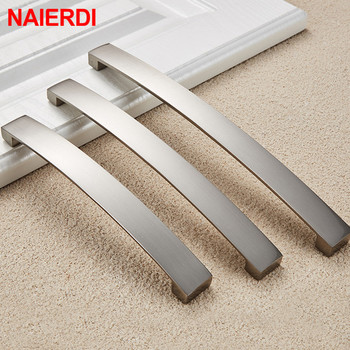 NAIERDI Modern Style Cabinet Pulls Knobs Door Kitchen Handles Furniture Hardware Wardrobe Cupboard Handle Drawer Pulls 20pcs lot vintage cupboard cabinet drawer door wardrobe furniture pull handles knobs european kitchen bronze tone handle